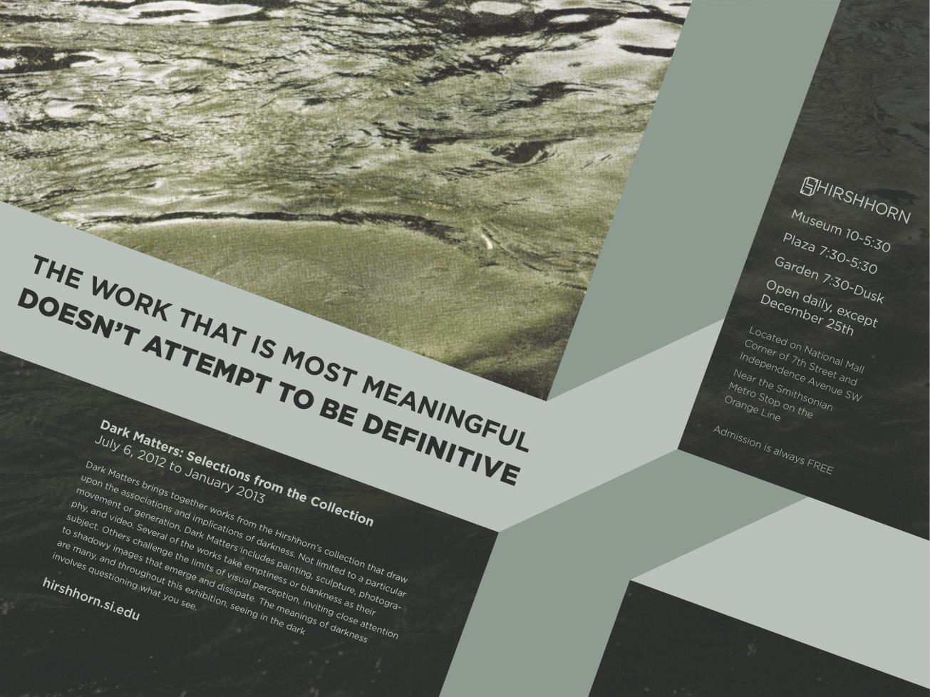 Dark Matters Poster